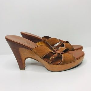 Cole Haan Wood and Leather Heels